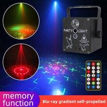 Mini RGB Disco Light USB аккумулятор красный зеленый лампа 3 объектив DJ светодиод лазер сцена проектор свадьба день рождения вечеринка лампа огни