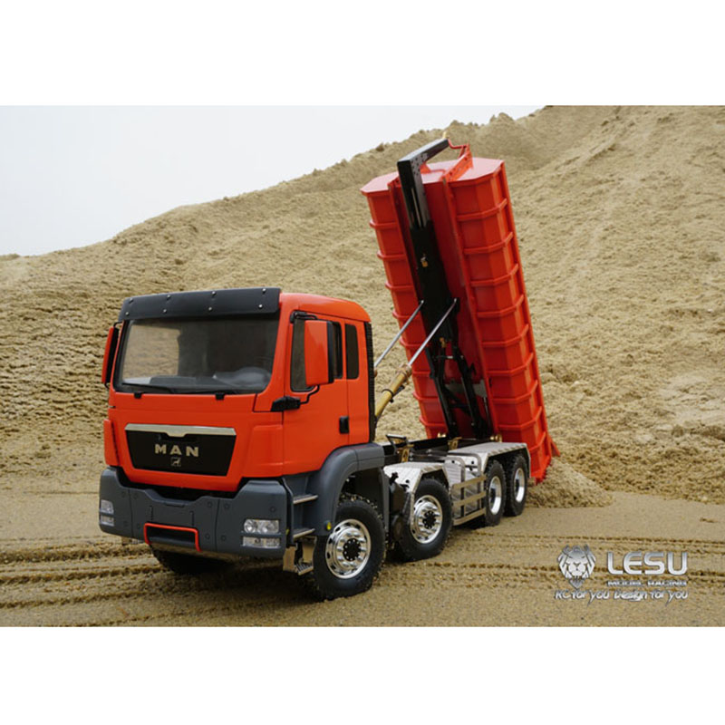 1/14 LESU RC MAN TGS Hydraulic Dumper 8x8 RC Truck Tipper