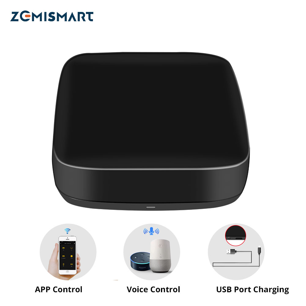 Zemismart Tuya IR Bridge Control Aircondition Fan TV Google Home Alexa Echo Universal Remote AC Control