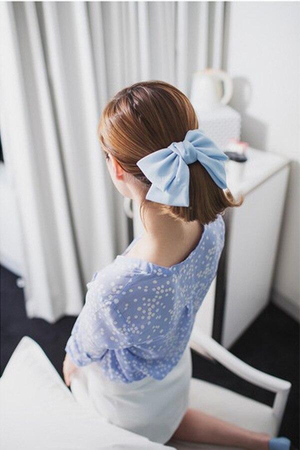 seda cetim clipe de cabelo primavera barrettes