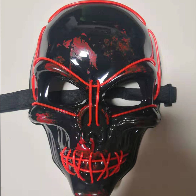 El Wire Led Mask Magic Surprising Funny Punk Skull Mask Party Toys Fashion Cosplay