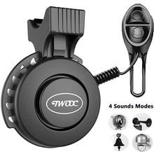 Велосипедный звонок зарядная Колонка USB подзарядка Водонепроницаемый руль 4 режима велосипедные аксессуары для электрического велосипеда ...