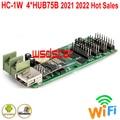 HC-1W 4 * HUB75B полноцветная светодиодная карта управления, поддержка Android APP, Wi-Fi и USB-карта, поддержка P5 P6 P8 P10 2021, лидер продаж