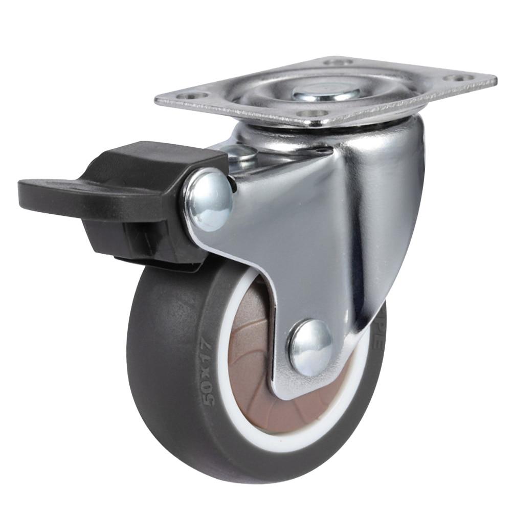 Heavy Duty Castor Wheel Non-Slip Mute Chair Swivel Furniture Office Replacement Brake Roller Rubber Universal Table