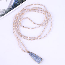 C.QUANCHI Women Charm Necklace Woven Braided Crystal Beads Statement Meditation Tibetan Buddha Pendant Necklace Amulet Jewelry csja long necklace collier silk tassel pendant knotted abalone shell 4mm matte crystal faceted beads charm jewelry handmade s055