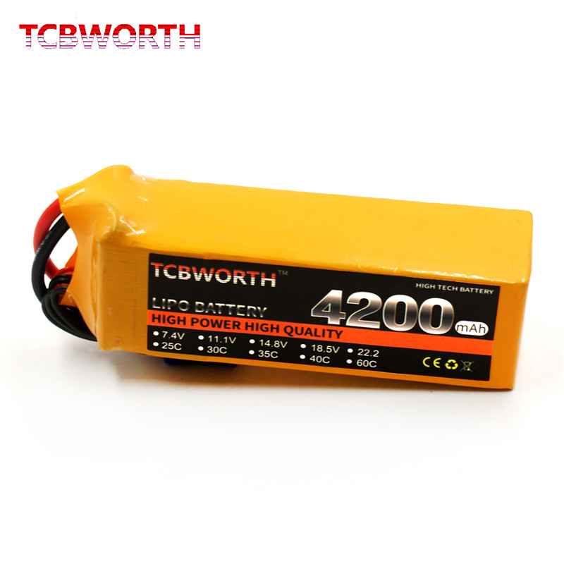 RC Toys LiPo Battery 6S 22.2V 4200mAh 30C 40C 60C Burst Rate Max 120C For RC Airplane Quadrotor Helicopter Car Boat Truck Drone(China)