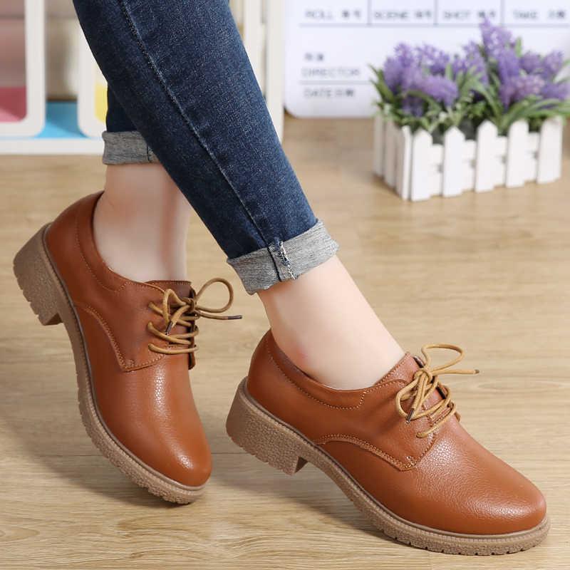 Plardin جديد الترفيه جلد طبيعي الخياطة تزلج الأحذية المسطحة النساء أحذية الباليه الدانتيل يصل موجزة حذاء رياضة إمرأة شق حذاء كاجوال