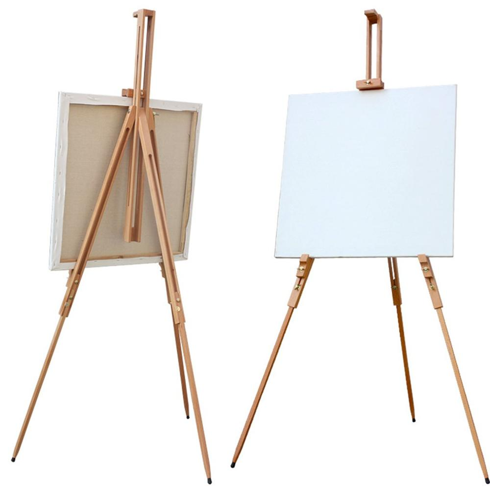 Verstelbare Kunstenaar Schildersezel Stand Massief Beukenhout Draagbare Inklapbare Telescopische Statief Schildersezel Schilderij Tekening Canvas Schetsboek