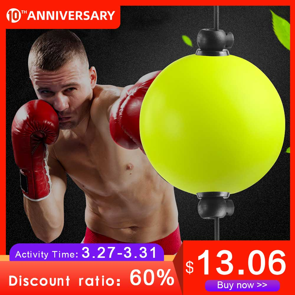 Boxing Ball Reflex Speed Training Equipment MMA Hand Eye Reaction Exercise Muay Combat Ball Fitness Double End Bag Sport Home