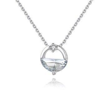 REETI 925 Sterling Silver Zicon naszyjniki i wisiorki dla kobiet moda pani festiwal prezent Sterling silver biżuteria