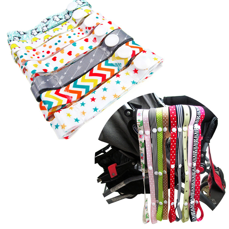 Pacifier Chain Strap Holder Belt Saver Toys Teether Pacifier Clip Toy Fixed Anti-Drop Hanger Belt Holder Baby Stroller Accessory
