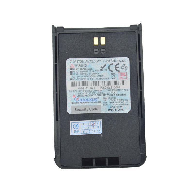 Wouxun Walkie Talkie KG-819 KG-UV899 7.4V 1700mAh 12.5Wh Li-ion Battey Pack For Wouxun Kg-819 Kg-uv899 Two Way Radio
