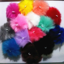 FUYIER 2 pcs/lot 4,6,8,10,CM Pompons Artificial Rabbit Fur Ball DIY Jewelry Parts Making Pendant For Chain Handmade Crafts Gifts
