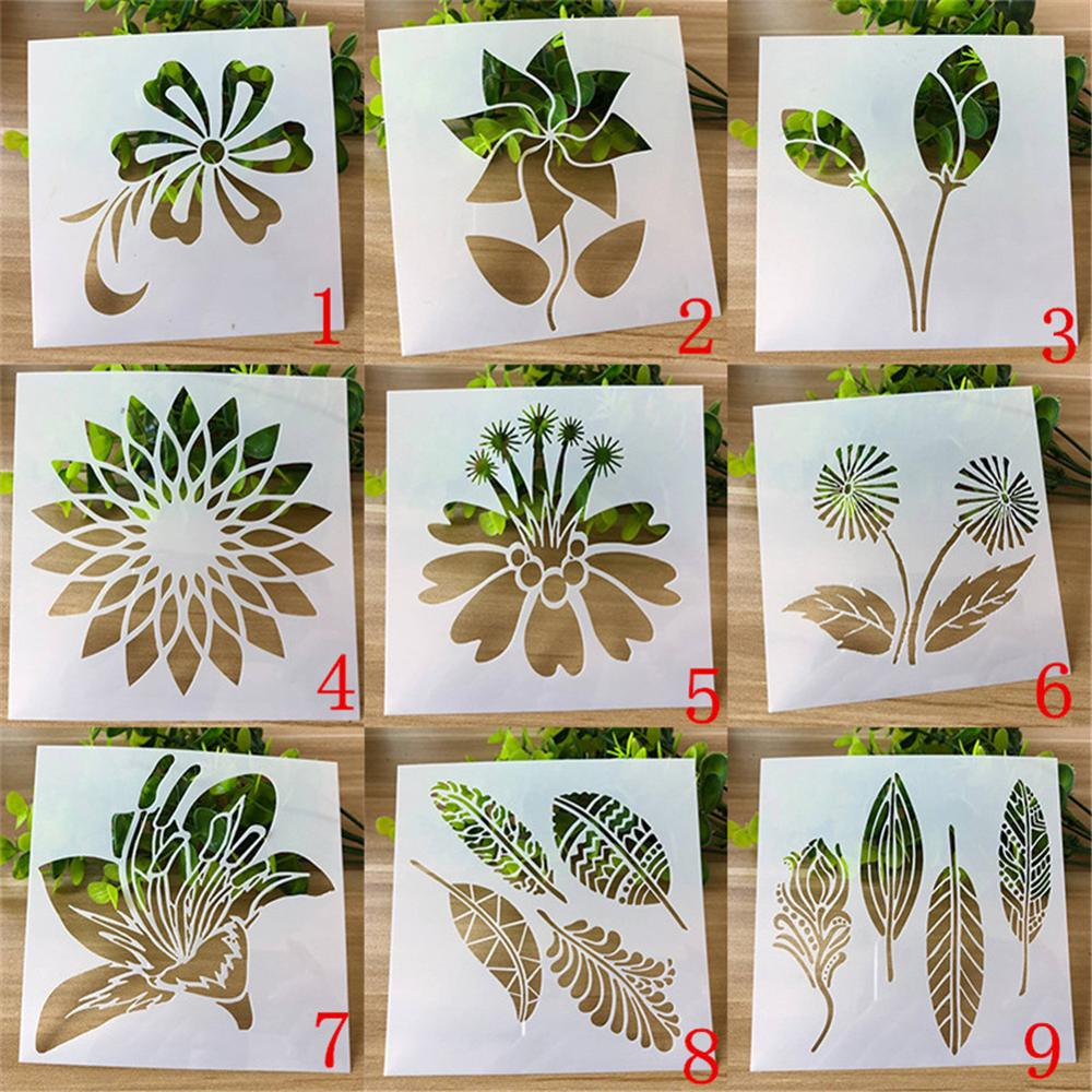 Stencil For Walls Craft Variety Flowers Painting Scrapbooking Stamping Stencil Bullet Journ Embossing Paper Card Flower Template