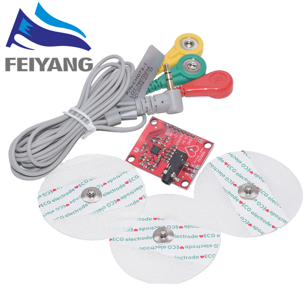 New AD8232 <font><b>Ecg</b></font> module AD8232 <font><b>ecg</b></font> measurement pulse heart <font><b>ecg</b></font> monitoring <font><b>sensor</b></font> module kit Diy image