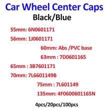 Для Passat B6 B7 CC MK5 MK6 Tiguan синий/черный 75 мм 70 мм 65 63 мм 60 мм 56 мм/55 мм/Автомобильные обода крышки Центральная втулка колеса автомобиля крышки