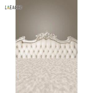 Image 5 - Laeacco Bedboard כריות ראש המיטה דמשק וילון משפחת יילוד צילום רקע צילום תפאורות צילום סטודיו