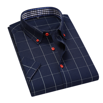 2020 New Arrival Summer Men Short Sleeve Men's Plaid Dress Shirts Male High Quality Slim Fit Casual Brand Clothing Male Shirt new arrival colorful printed shirt men brand good quality short sleeve casual dress shirts plus size