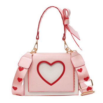 Heart Messenger Bag Accessories Bags cb5feb1b7314637725a2e7: Black|Khaki|Pink