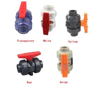 PVC/PP zawór kulowy unii zawór rura wodociągowa PVC złącze wąż hydrauliczny złączki poślizgu zamknąć zawór 1 sztuk