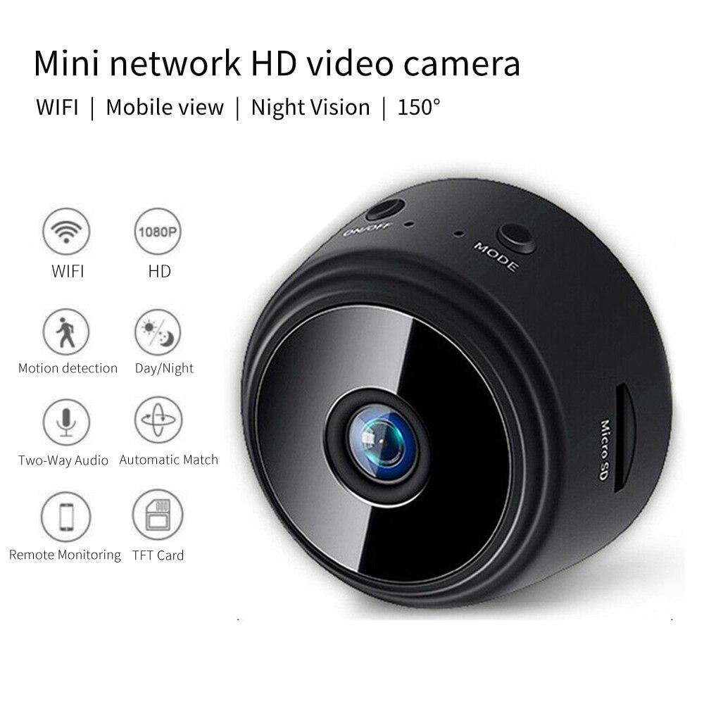 Mini Camera Wireless Wifi Network Home Security 2MP HD 1080p Hard Disk Recorder Night Vision Remote Control Brand New