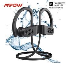 Mpow chama s aptx-hd som ipx7 sweatproof bluetooth 5.0 esporte sem fio fones de ouvido cvc 8.0 cancelamento de ruído reprodução 12h com microfone
