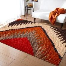 Estilo nacional marroquino tapete vermelho área tapetes flanela memória espuma quarto tapete bohemia tapetes e tapetes para sala de estar moderna