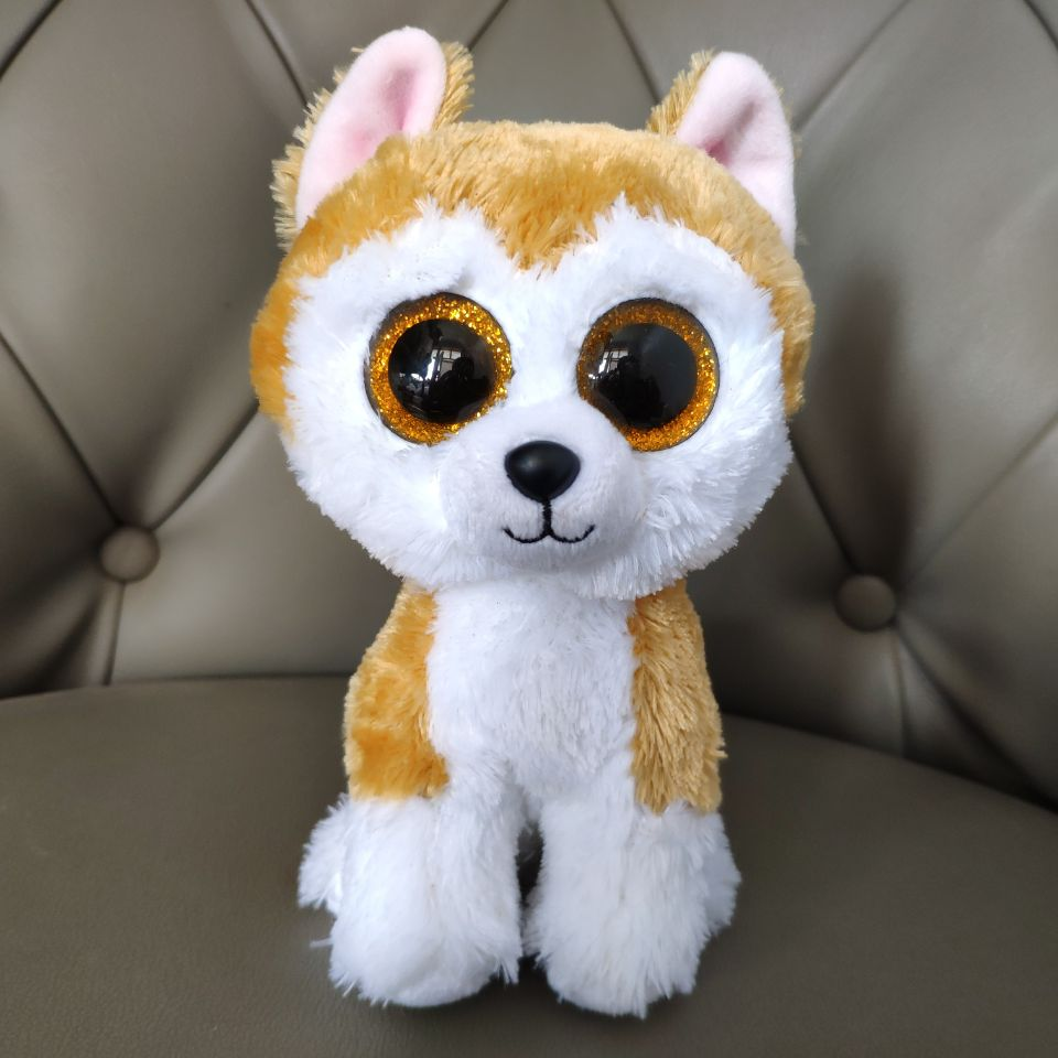 Yellow Loy Dog Japanese Akita 15CM Plush Toys Stuffed Animals Kids Baby Dog Dolls Real Picture