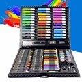 150 pçs/set ferramenta de desenho kit com caixa pintura escova arte marcador cor água caneta crayon crianças presente uy8