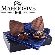 Mahoosive деревянный мужской галстук бабочка gravatas corbatas