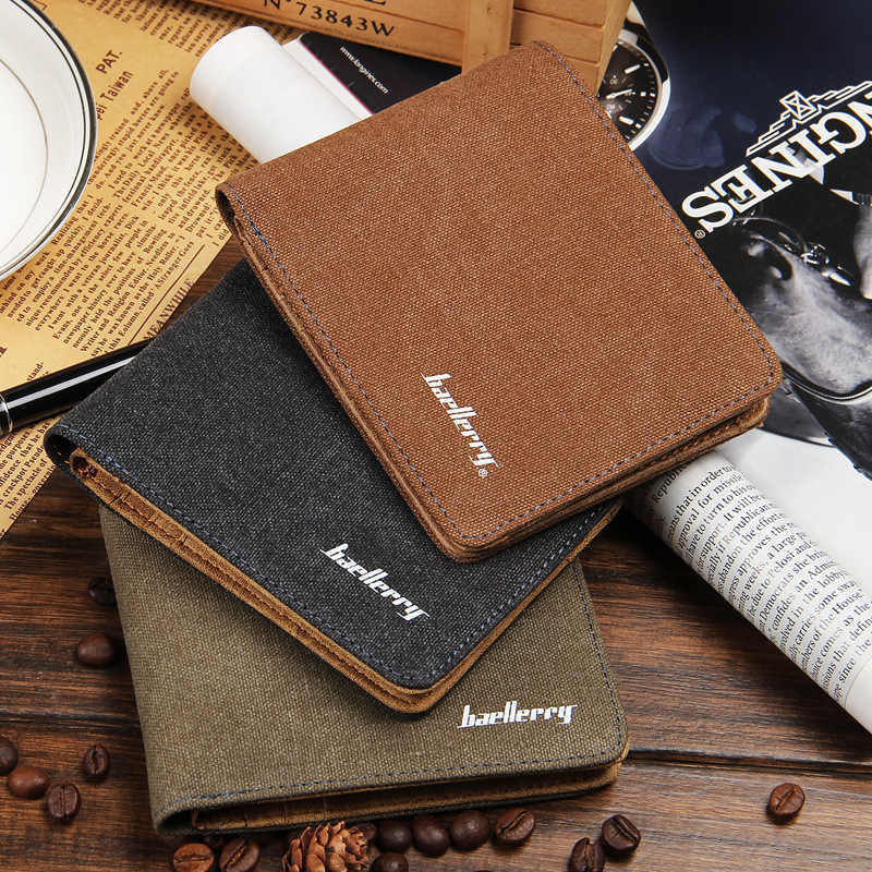 Baellerry Men/'s RFID Blocking Wallet Small Vintage Cowhide Leather Wallets Purse