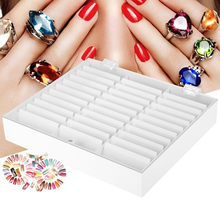 33 Grids Empty Nail Art Storage Box Case Holder Nail Box for Art Nail Tips Earrings Container Nail Manicure Pills Organizer