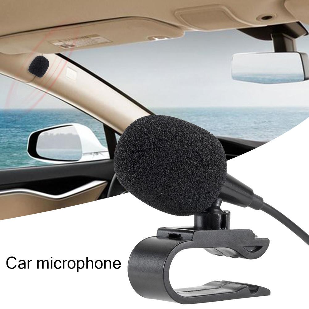 Автомобильный внешний микрофон с 3,5 мм 3 м Bluetooth аудио кабель u-образный зажим для радио автоматический dvd-плеер автомобильные аксессуары
