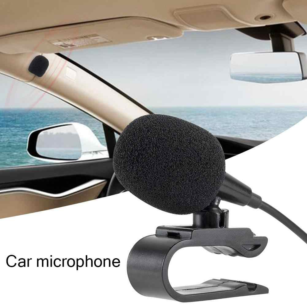 Car External Microphone With 3.5mm 3M Bluetooth Audio Cable U-Shaped Clip For Radio Automatic DVD Player Car Accessories