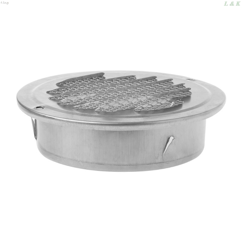 24 unidades de rejilla de ventilaci/ón de acero inoxidable de di/ámetro inferior redonda perforada para armario ba/ño zapatero cocina