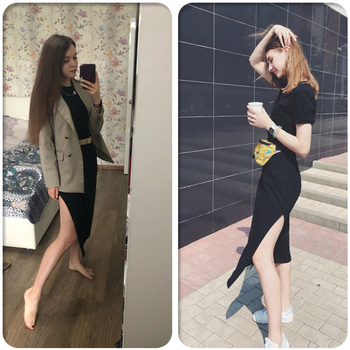 Maxi T Shirt Dress Women Summer Beach Boho Sexy Party Vintage Bandage Knitted Bodycon Casual Black Long Dresses Robe Plus Size 4