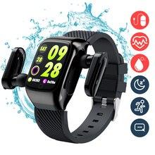 Auricolare Bluetooth Smart Watch 2 in 1 auricolari TWS auricolari wireless Smartwatch impermeabile musica sport touch per esercizio