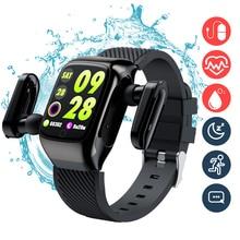 Bluetooth earphone Smart Watch 2 in 1 Earbuds TWS wirless Earphones watetproof Smartwatch Music Sports touch for Exercise Run