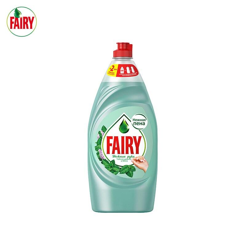 900 мл. Средство для мытья посуды Fairy Нежные ручки Чайное дерево и мята|Средство для мытья посуды|   | АлиЭкспресс