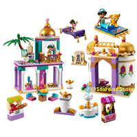 NEW 2019 Girl Friends Fairy Princess Aladdin Palace Figures Building Blocks Bricks Toys For Children lepining Toys Gift 4116