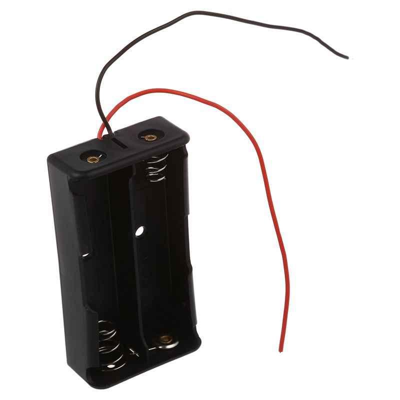 5 pces 2x3.7 v 18650 caixas de suporte de bateria casos