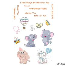 AZSG Cute elephant / butterfly Transparent Clear Stamp/Seal for DIY Scrapbooking photo Album Decorative Stamp Sheets