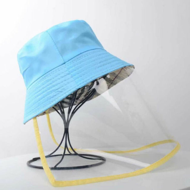 Protective Outdoor Protection Hat Anti Virus Saliva UV Hat Full Face Shield Fisherman's Hat Bucket Hats 3