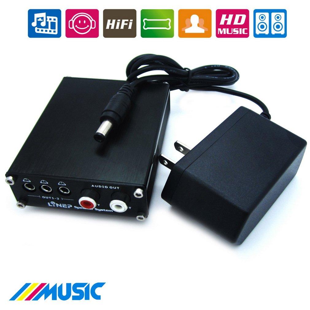 HiFi Digital DAC Decoder Optical Fiber Coaxial DAC Decoder MP3 Music Sound Audio Output With Power Adapter For LCD TV Computer