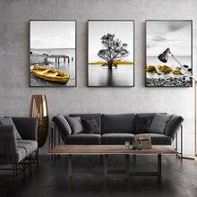 Домашний декор современные фотографии черно белый фон морской