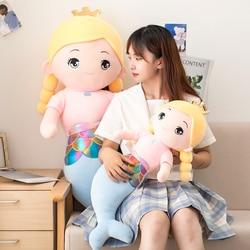 Игрушка плюшевая Русалка 55-120 см, мягкая подушка, набивные плюшевые куклы-животные, детская игрушка, для сна, для подруг, для девочек, подарок ...
