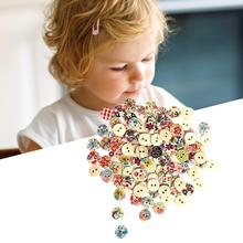 100Pcs Wooden Button Mini 2 Holes Multi Color Round Sewing Button Arts Crafts DIY toys Beads Toys Toys Hobbies