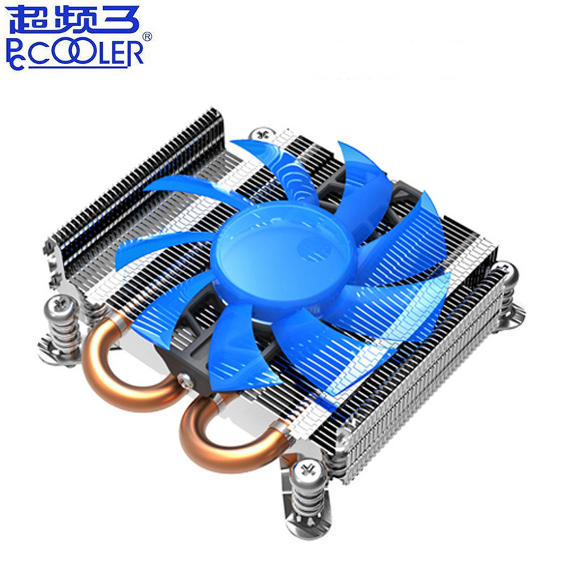 Pccooler S85 2 heatpipe ultra-thin 80mm PWM fan for HTPC 1U mini case all-in-one cooling for Socket Intel 775 115x CPU cooler(China)