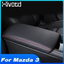 Hivotd Für Mazda 3 Innen Änderung Auto Zubehör Zentrale Armlehne Box Schutz Weiche Leder Pad Deckt Schutzhülle