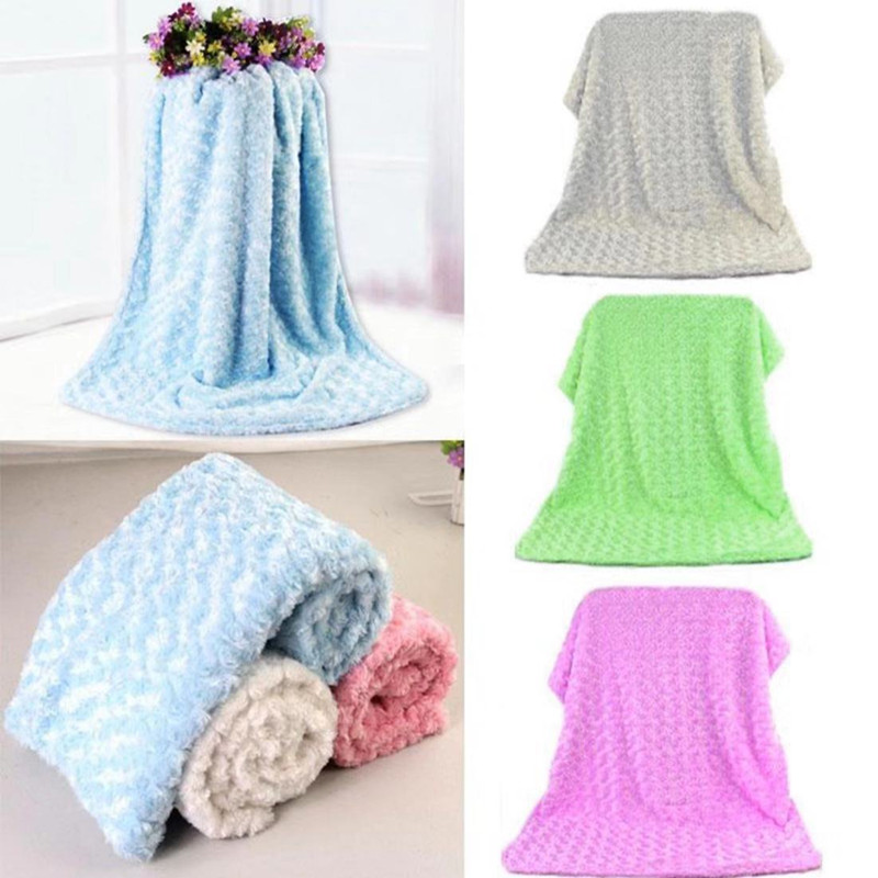 Practical Tool Fleece Infant Thickening Stroller Coral Cashmere Double Layer Blanket Born Cover